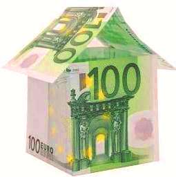 A house made from euro bills